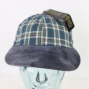 New Vintage Streetwear Suede Brim Plaid Hat Cap